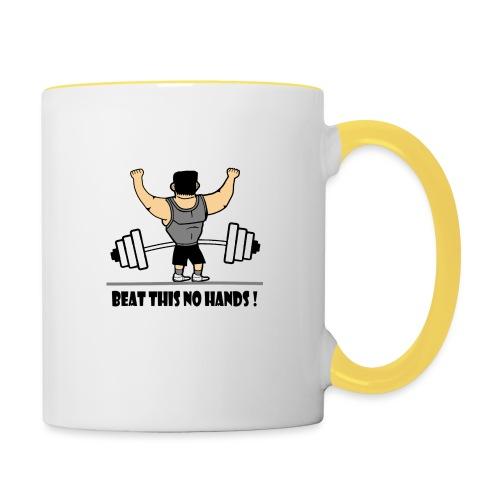 BEAT THIS NO HANDS ! - Contrasting Mug