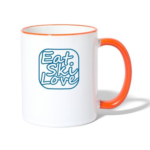 eat ski love - Mok tweekleurig