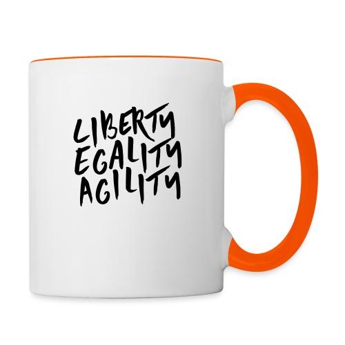 Liberty Egality Agility - Tote Bag - Mug contrasté
