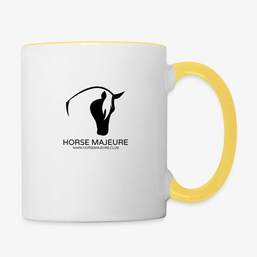 Horse Majeure Logo / Musta - Kaksivärinen muki
