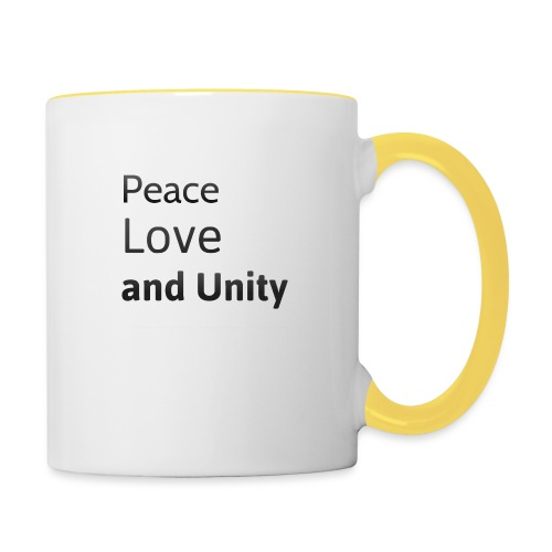 Peace love and unity - Contrasting Mug
