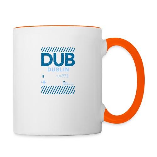 Dublin Ireland Travel - Contrasting Mug