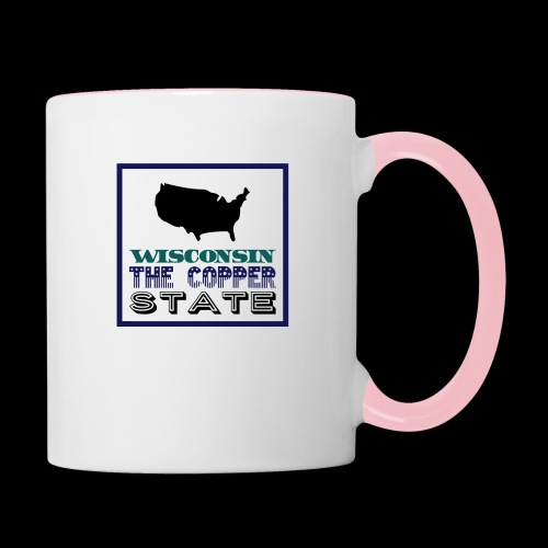 WISCONSIN THE COPPER STAT - Contrasting Mug