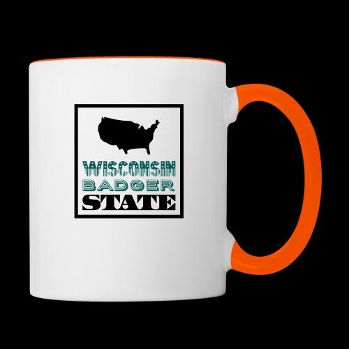 Wisconsin BADGER STATE - Contrasting Mug