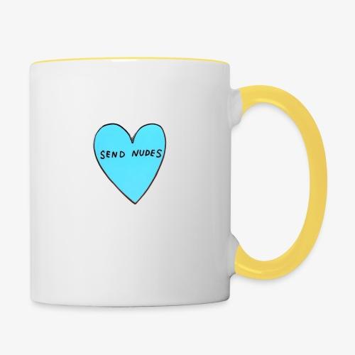 send nudes - Contrasting Mug