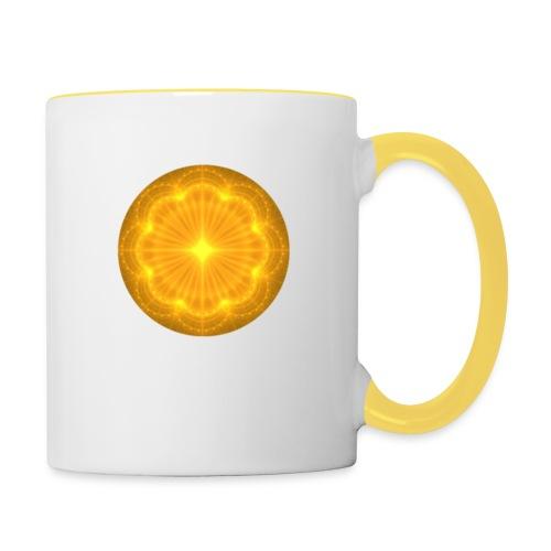 Golden Radiance Mandala Heart - Mok tweekleurig