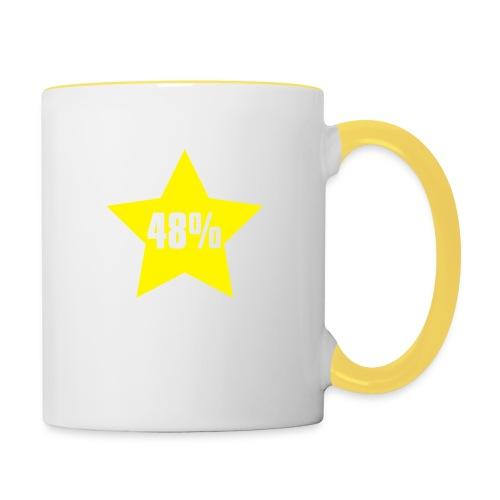 48% in Star - Contrasting Mug