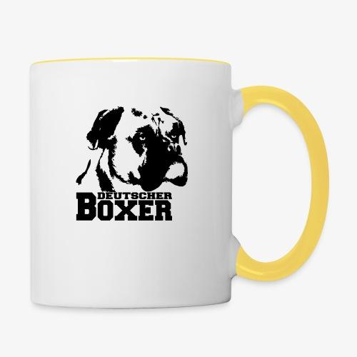 Deutscher Boxer - Tasse zweifarbig