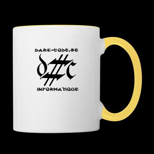 Dark-Code Black Gothic Logo - Mug contrasté