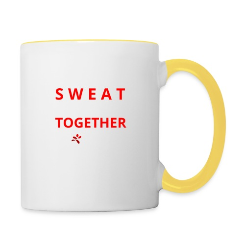 Friends that SWEAT together stay TOGETHER - Tasse zweifarbig