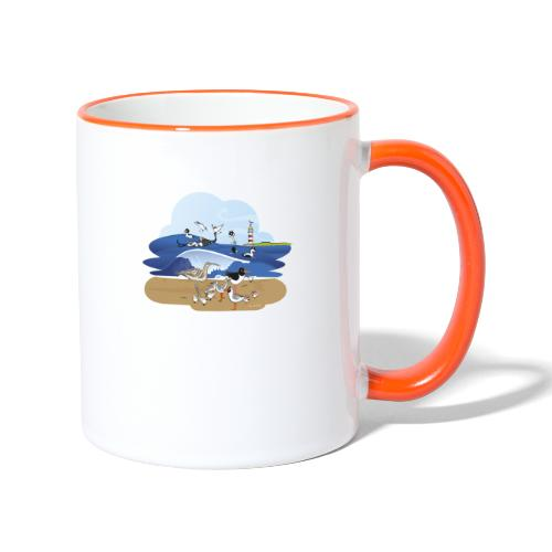 See... birds on the shore - Contrasting Mug