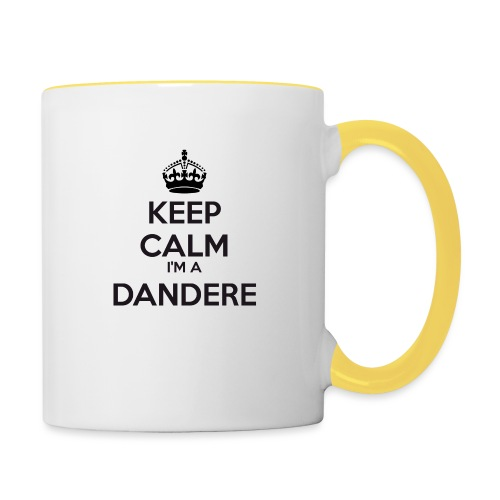 Dandere keep calm - Contrasting Mug