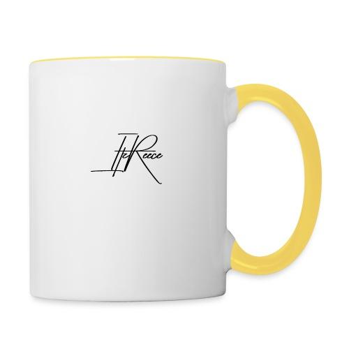 Small logo white bg - Contrasting Mug