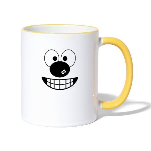 Funny cartoon face - Contrasting Mug