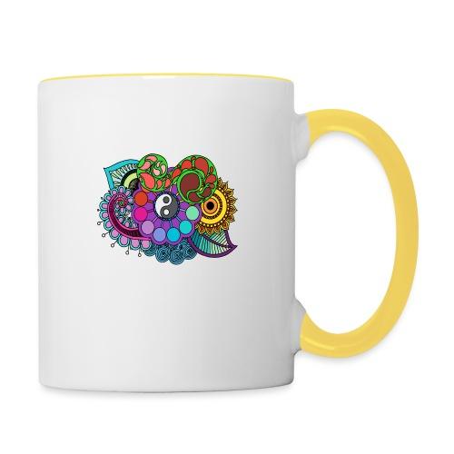 Coloured Nature Mandala - Contrasting Mug