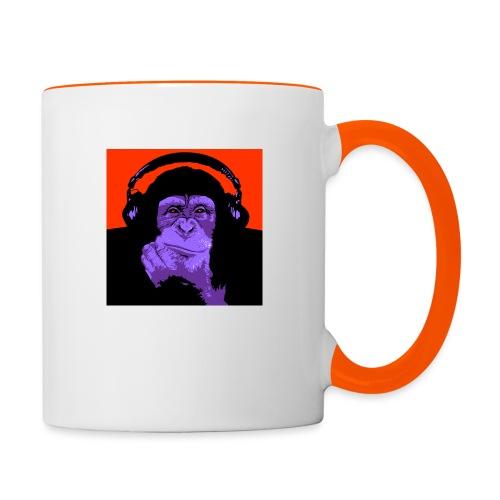 project dj monkey - Mok tweekleurig