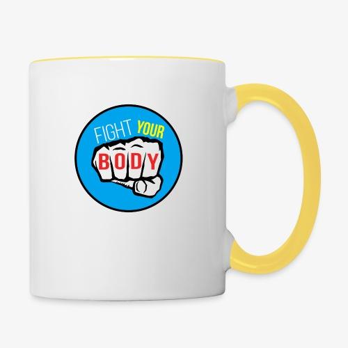 logo fyb bleu ciel - Mug contrasté