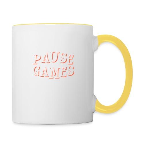 Pause Games Text - Contrasting Mug