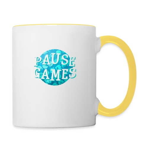 Pause Games New Design Blue - Contrasting Mug