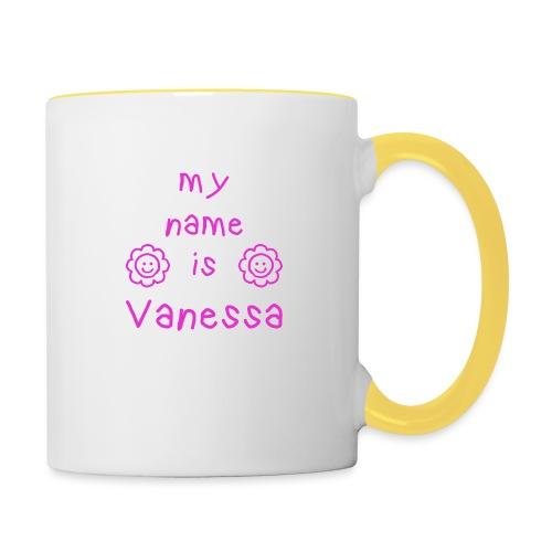 VANESSA MY NAME IS - Mug contrasté