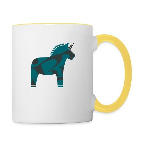 Swedish Unicorn - Tasse zweifarbig