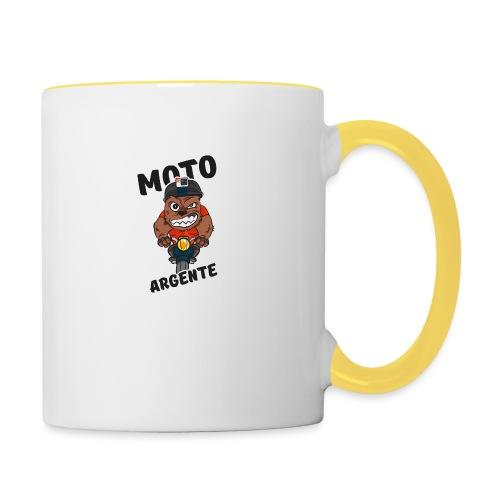 moto argente - Mug contrasté