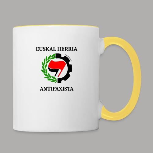 EH antifaxista pour fond clair - Mug contrasté