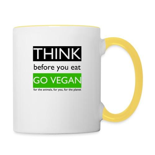 go vegan - Tazze bicolor