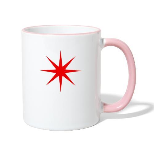 Roter Stern - Tasse zweifarbig