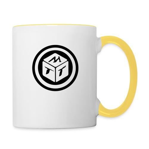 mb logo klein - Tasse zweifarbig
