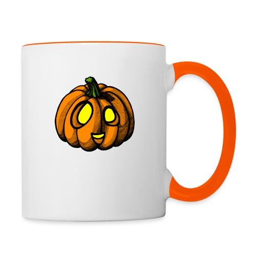 Pumpkin Halloween scribblesirii - Kaksivärinen muki