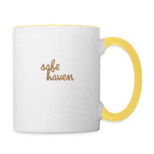 safe haven - Tasse zweifarbig