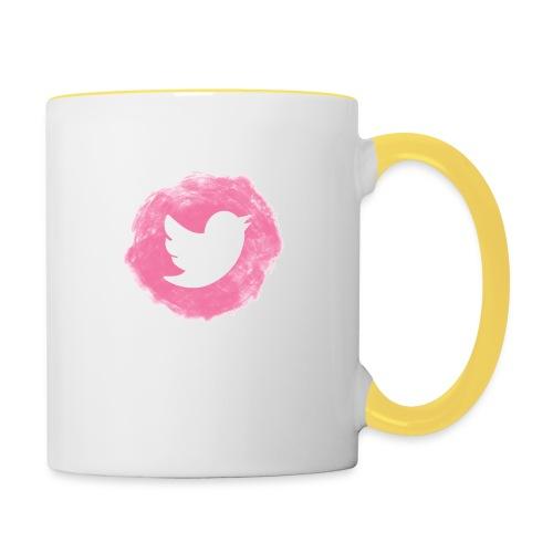 pink twitt - Contrasting Mug