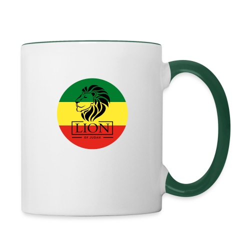 Lion of Judah - Jah Rastafari - Tasse zweifarbig
