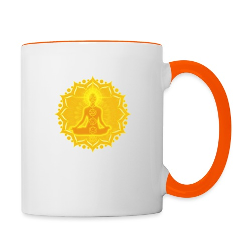 Yoga Lotus Meditation Chakren III - Tasse zweifarbig