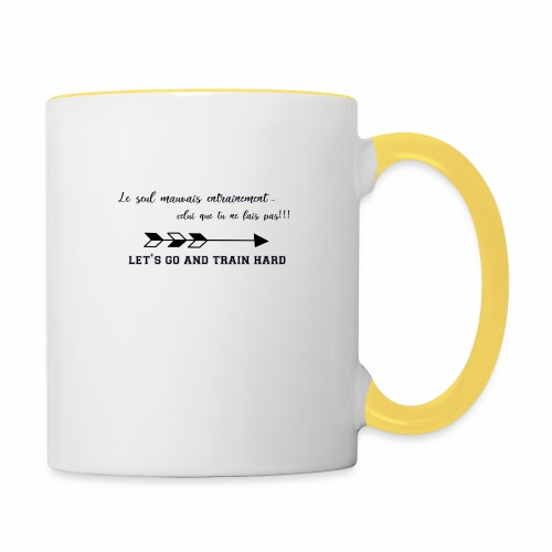 train hard - Mug contrasté