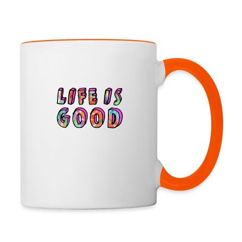 LifeIsGood - Contrasting Mug