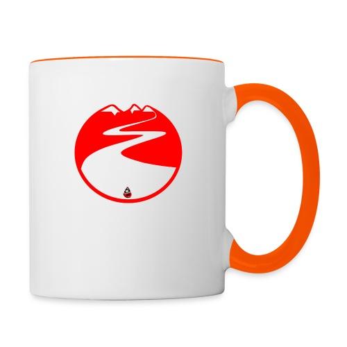 Montagne rouge - Mug contrasté