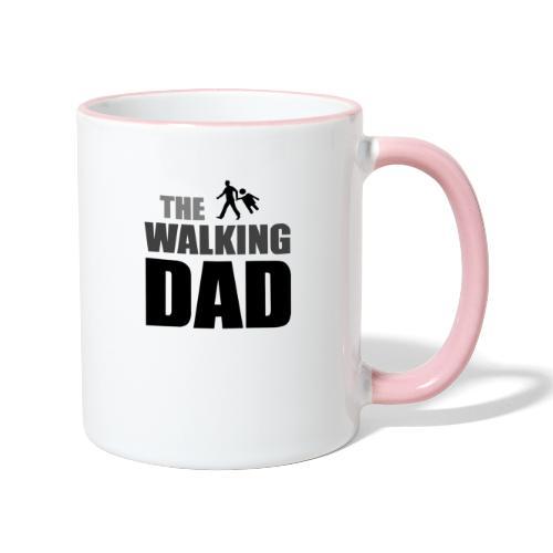 the walking dad auf dem Weg in die lustige Bar - Tasse zweifarbig