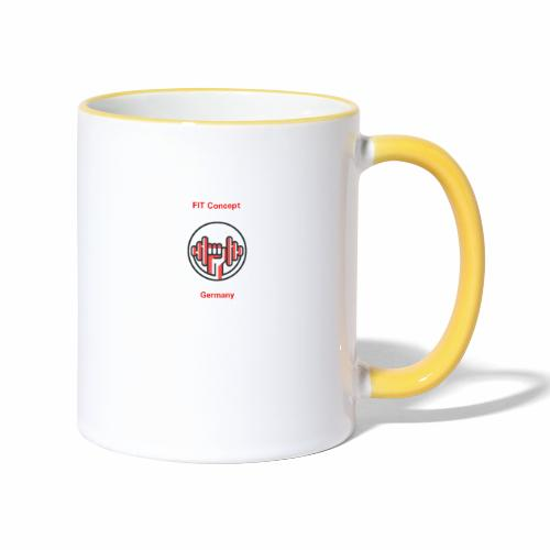 FIT Concept Germany Logo+Beschriftung - Tasse zweifarbig