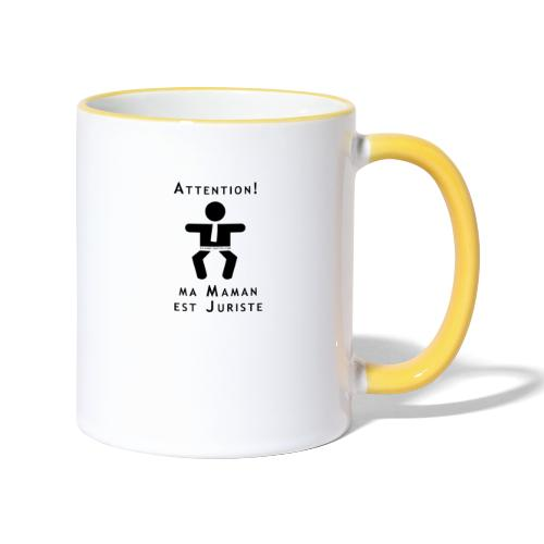 Attention Maman juriste ! - Mug contrasté