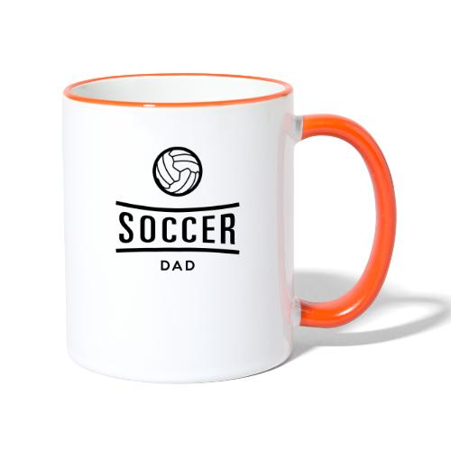 soccer dad - Mug contrasté