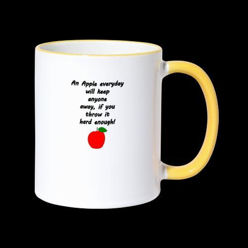 Apple Apfel Doctor Zitat Spruch Lustig - Tasse zweifarbig