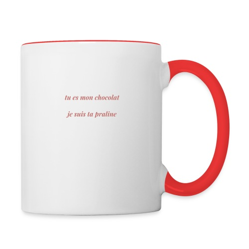 Tu es mon chocolat clair - Mug contrasté