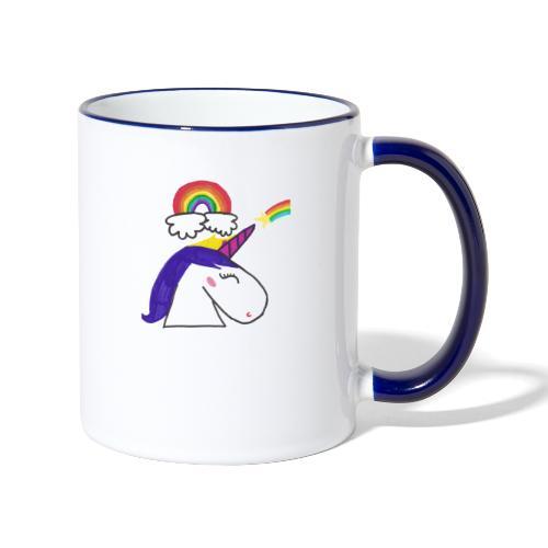Unicorno arcobaleno - Tazze bicolor