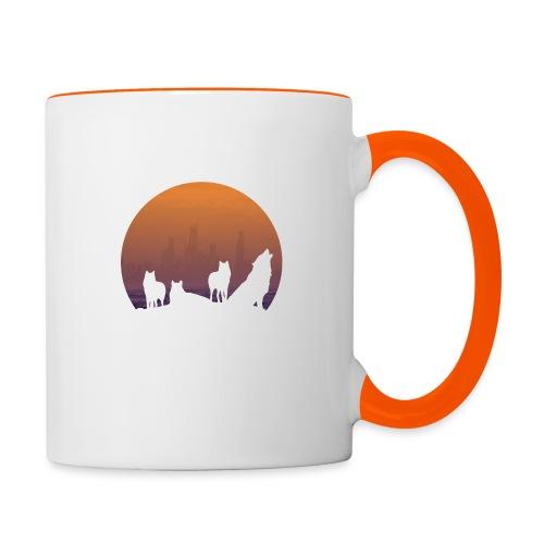 Wolfsrudel - Tasse zweifarbig