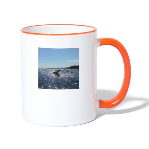 Mer avec roches - Mug contrasté
