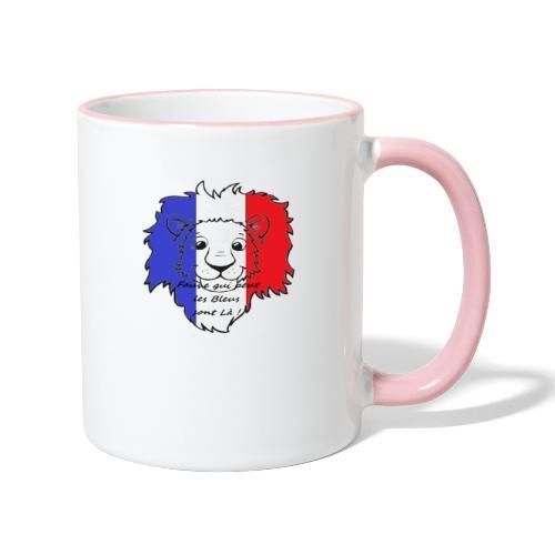 Lion supporter France - Mug contrasté