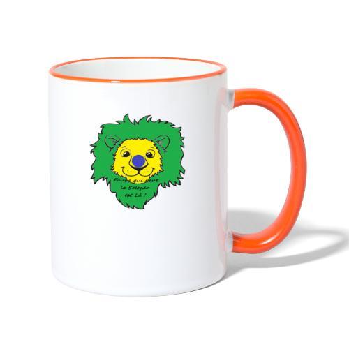 Lion supporter Brésil - Mug contrasté