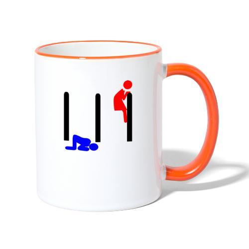 Mann und Frau - Tasse zweifarbig